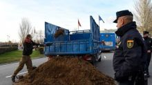 Extinction Rebellion dump horse manure outside UN climate summit
