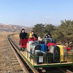 Russian diplomats forced to leave North Korea by pushing their way home in handcart
