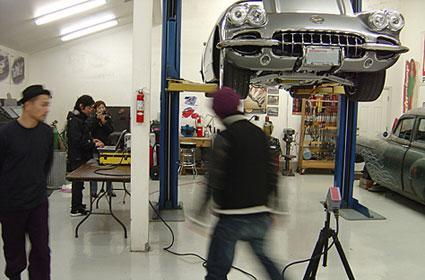 How a car is scanned for Gran Turismo HD