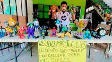Niño mexicano puso en venta sus juguetes para comprar una tablet que necesita para estudiar