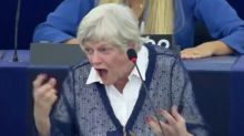Moment raging Ann Widdecombe explodes at MEP who said majority of Brits don't support Brexit