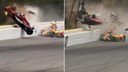 'Violent and terrifying' crash rocks motorsport