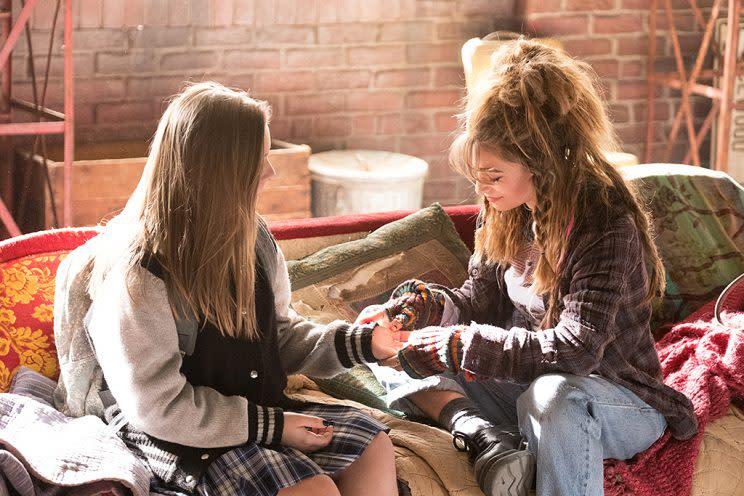 Maisy Stella as Daphne Conrad and Odessa Adlon as Liv in CMT's Nashville. (Photo: Mark Levine/CMT)