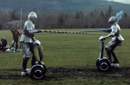 Visualized: jousting on a Segway
