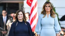 Melania Trump practices sartorial diplomacy while welcoming Australian Prime Minister