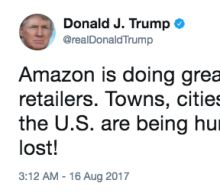 Today's charts: Trump blasts Amazon; Cisco, L Brands earnings on tap