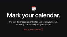 橫跨整個周末!蘋果宣佈即將舉行「Black Friday」特賣日