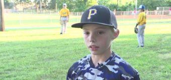 Boy, 11, fights off alleged burglar with machete