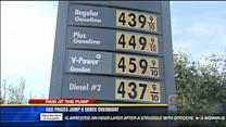 Gas prices jump 9 cents overnight