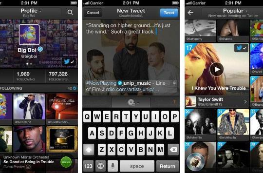 Twitter #Music iOS app updated with discovery features, additional languages