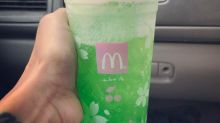 The latest McDonald's drink is bright, bright green and we aren't sure how to feel about it