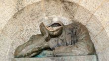 Head of Cecil Rhodes gouged off Cape Town monument