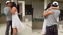 VIDEO | Quinceañera bailó el vals con su padre en medio de ladrillos y cemento