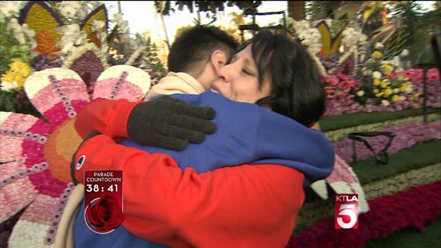 Cancer Survivor Meets Bone Marrow Donor in Front of City of Hope Rose Parade Float
