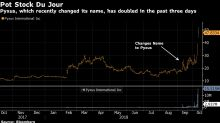 Soaring Pot Stock of the Moment Went by Different Name Weeks Ago