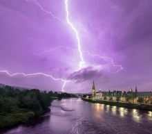 In pictures: Dramatic lightning storms strike UK as heatwave continues