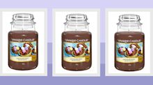 Looking for alternative Easter present ideas? Yankee sells a chocolate egg scented candle