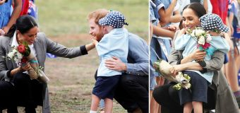 Moment Dubbo boy charms Harry and Meghan