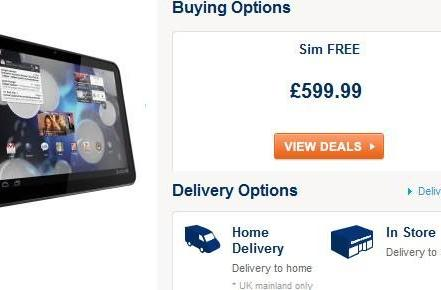 Motorola Xoom 3G arrives in UK for £600, gets enigmatic listing on Amazon.de for €700