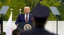 'America will always rise up': Trump and Biden pay respects to 9/11 victims in memorial visits