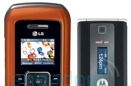 Up close with the Motorola W385, LG orange enV for Verizon