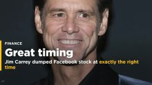 Actor Jim Carrey dumped his Facebook stock at exactly the right time (FB)