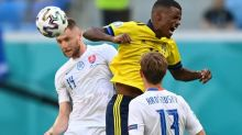 Soccer-Proud Isak stakes claim to Zlatan's crown as Sweden beat Slovakia