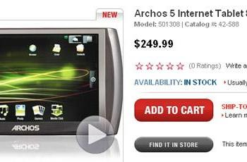 Android-based Archos 5 Internet Tablet surfaces in 8GB form for $250