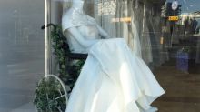 Bridal shop praised for its inclusive window display