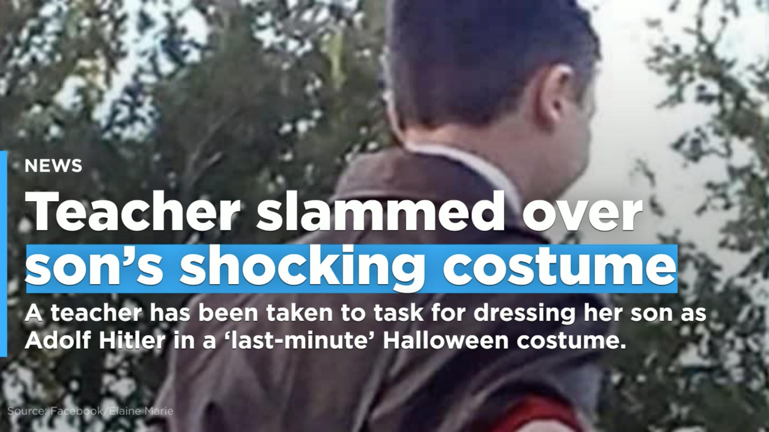 nazi furore: teacher slammed over son's adolf hitler halloween costume