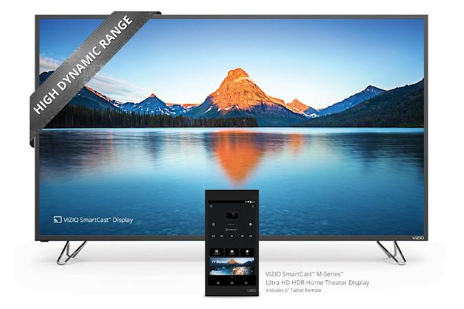 Vizio brings tablet remotes and 4K to lower-cost TVs