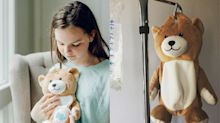 Girl with rare condition creates teddy bears to help children who need IV bags