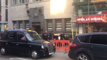 Bishopsgate car crash: Black Toyota Prius ploughs into wall near to City of London police station