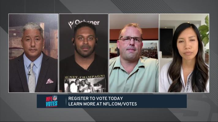 Wyche, Jordan, Runyan, Tran discuss importance of 'NFL Votes' initiative