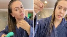 """""""¡Poneos la maldita mascarilla!"""": Alyssa Milano muestra el cabello que está perdiendo tras padecer Covid-19"""