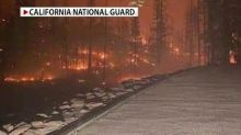 Massive wildfire traps over 150 people at California campground