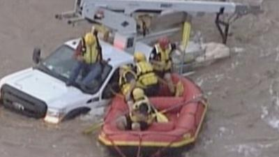 Raw Video: High water rescue in Arizona