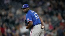Demarcus Evans trying to move forward with Texas Rangers by hitting brakes on mound
