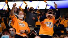 Attendance for Nashville Predators NHL playoffs games increased to 12,135