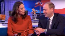 Will and Kate break tradition in rare display of public affection