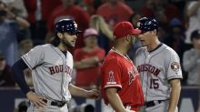 Astros manager A.J. Hinch fuming after Angels bean Jake Marisnick, benches clear