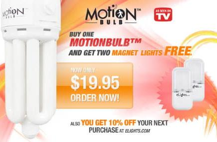 CFL + motion detector = Motionbulb
