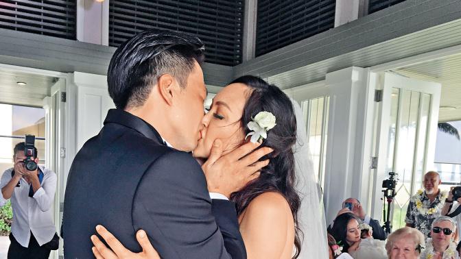 哭崩夏威夷婚禮 安志杰豪花百萬娶JC誓言追多個