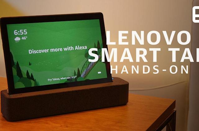 Lenovo's 2-in-1 Android tablet turns into an Echo Show clone