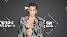 Kourtney Kardashian is the latest celeb to put her spin on Khaite's famous sweater bra