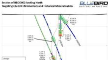 BlueBird Intersects 1.33% Ni, 1.26% Cu and 0.10% Co over 4.90 metres at Canegrass, Extends Strike Length of Ni-Cu-Co Mineralization to 4.5 km