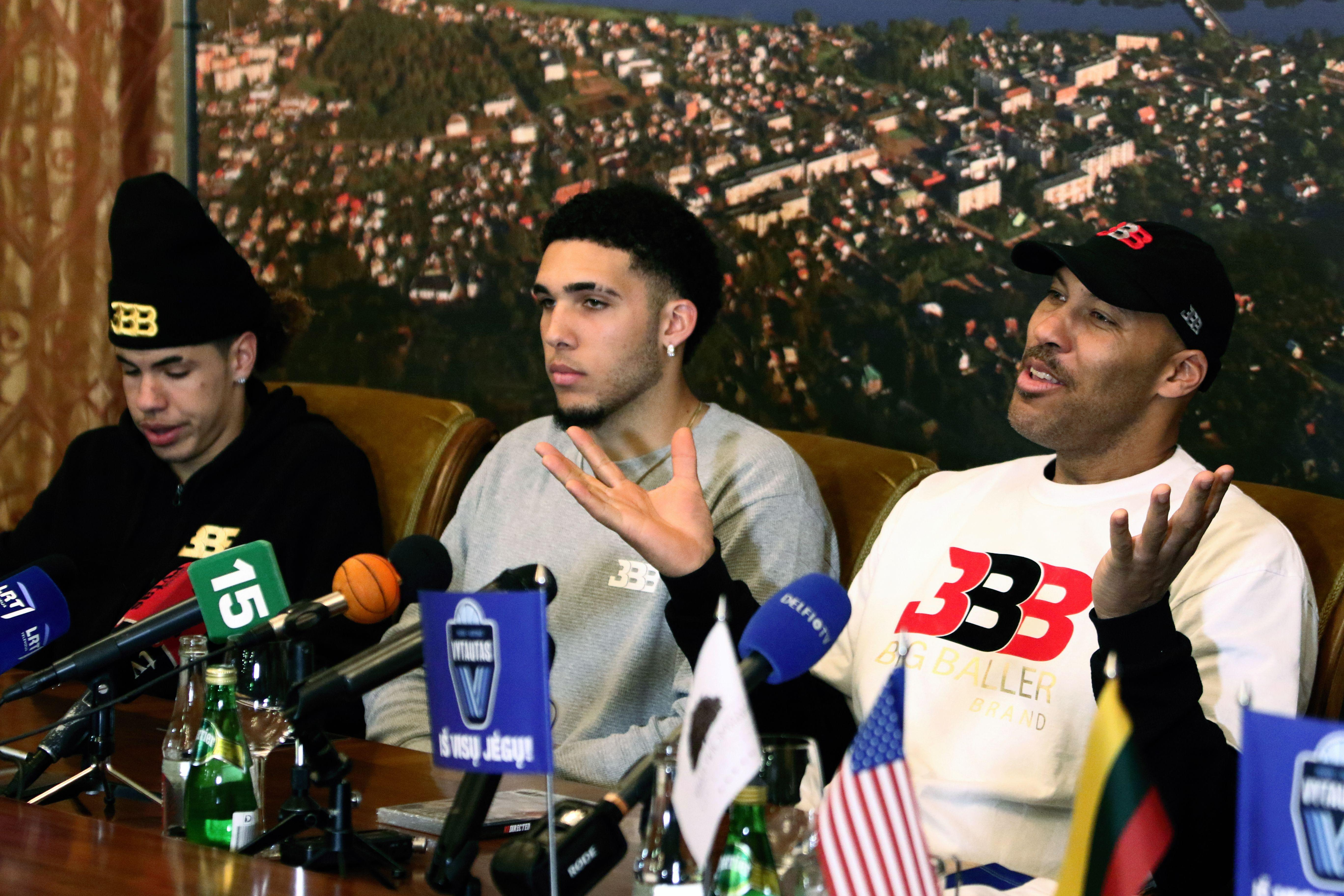 LaVar Ball's league has hit some speed bumps since its inception, but, hey, at least it's given LiAngelo and LaMelo Ball a place to play. (AP Photo)