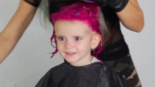 Mum sparks parenting debate after dying her two year old's hair bright pink