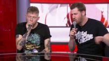 Beatboxers played out the BBC News channel today