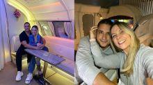 Carla Perez e Xanddy viajam para Dubai em voo luxuoso